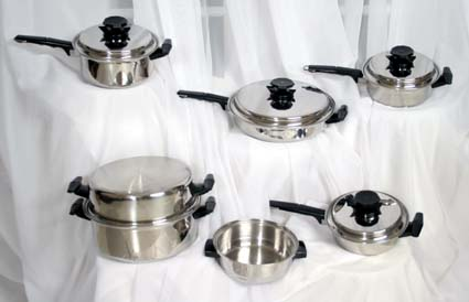 11 pc. Waterless Cookware image